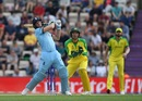 Jos Buttler hammers a six over midwicket, England v Australia, World Cup 2019 warm-up, Southampton, May 25, 2019