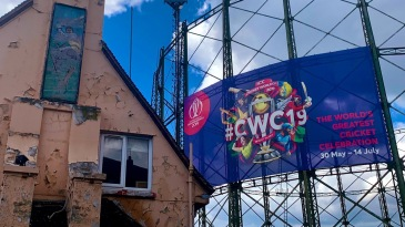 Ring out the old, ring in the new: The Oval gasometers get in on the World Cup action, while an old cricket-themed pub waits for resurrection