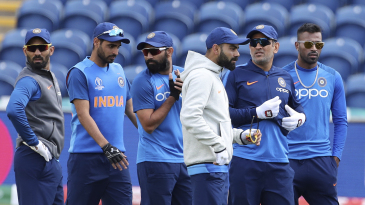 The Indian team trains at Sophia Gardens