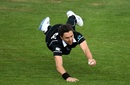 Trent Boult pulls off a diving catch, New Zealand v West Indies, ICC World Cup warm-up, Bristol, May 28, 2019