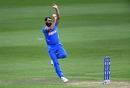 Mohammed Shami is about to deliver the ball, Bangladesh v India, World Cup 2019 warm-up, Cardiff, May 28, 2019