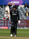 Tom Blundell raises his bat after crossing a half-century, New Zealand v West Indies, ICC World Cup warm-up, Bristol, May 28, 2019