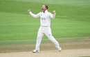 Gareth Batty celebrates a breakthrough, Warwickshire v Surrey, County Championship, Division One, Edgbaston, 3rd day, May 29, 2019