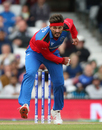 Hamid Hassan bowls, World Cup 2019 warm-up, Afghanistan v England, The Oval, London, May 27, 2019