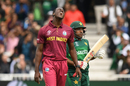 Carlos Brathwaite reacts after a delivery, Pakistan v West Indies, World Cup 2019, Trent Bridge, May 31, 2019
