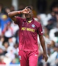 Oshane Thomas brings out the Dele Alli celebration, Pakistan v West Indies, World Cup 2019, Trent Bridge, May 31, 2019