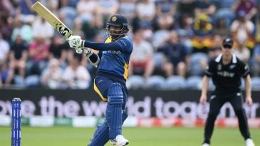 Dimuth Karunaratne stood firm as wickets fell at regular intervals