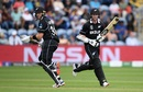 Martin Guptill and Colin Munro take a run  during their unbeaten opening stand, New Zealand v Sri Lanka, World Cup 2019, Cardiff, June 1, 2019