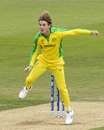 Adam Zampa in his delivery follow-through, Afghanistan v Australia, World Cup 2019, Bristol, June 1, 2019