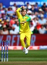 Adam Zampa just before releasing the ball, Afghanistan v Australia, World Cup 2019, Bristol, June 1, 2019