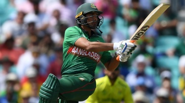Mahmudullah plays a shot as he guides Bangladesh to their highest ever WC total