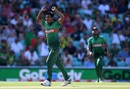 Mustafizur Rahman celebrates after taking David Miller's wicket, Bangladesh v South Africa, World Cup 2019, The Oval, June 2, 2019
