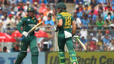 De Kock and du Plessis are the men India will need to keep their eyes peeled for