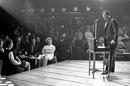 Fred Trueman performs at Club Fiesta, Stockton-on-Tees, County Durham, England, Fev 02, 1969