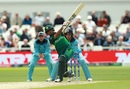 Babar Azam goes for a big one, England v Pakistan, World Cup 2019, Trent Bridge, June 3, 2019