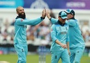 Moeen Ali celebrates Babar Azam's wicket, England v Pakistan, World Cup 2019, Trent Bridge, June 3, 2019