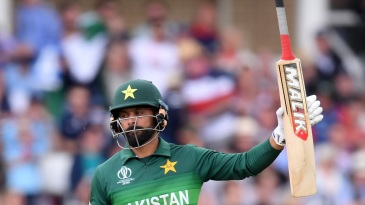 Mohammad Hafeez celebrates his fifty