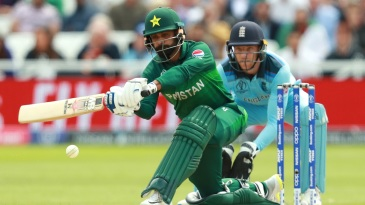 Mohammad Hafeez goes for the sweep