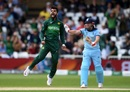 Shadab Khan is pumped after removing Jason Roy early, England v Pakistan, World Cup 2019, Trent Bridge, June 3, 2019