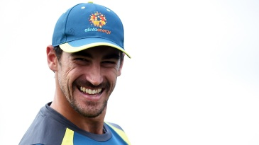 Mitchell Starc is all smiles