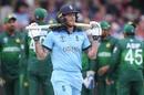 Ben Stokes walks back after managing just 13, England v Pakistan, World Cup 2019, Trent Bridge, June 3, 2019