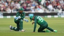 Babar Azam reacts after dropping Joe Root on 9, England v Pakistan, World Cup 2019, Trent Bridge, June 3, 2019