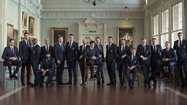 The England team before departing for Australia for the Ashes