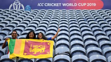 Sri Lankan fans turned up at Sophia Gardens
