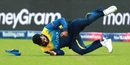 Thisara Perera took a brilliant catch to dismiss Hazratullah Zazai, Afghanistan v Sri Lanka, World Cup 2019, Cardiff, June 4, 2019