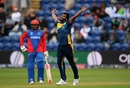 Thisara Perera is ecstatic after removing Mohammad Nabi, Afghanistan v Sri Lanka, World Cup 2019, Cardiff, June 4, 2019