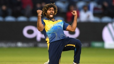 Lasith Malinga savours the winning moment