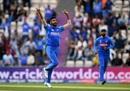 Jasprit Bumrah celebrates Hashim Amla's wicket, India v South Africa, Southampton, World Cup 2019, June 5, 2019