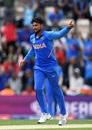 Kuldeep Yadav celebrates dismissing JP Duminy, India v South Africa, Southampton, World Cup 2019, June 5, 2019