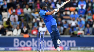 Rohit Sharma pulls the ball for four