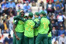 Kagiso Rabada celebrates after dismissing Shikhar Dhawan, India v South Africa, Southampton, World Cup 2019, June 5, 2019