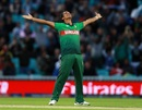 Mohammad Saifuddin celebrates after removing Colin de Grandehomme, Bangladesh v New Zealand, World Cup 2019, The Oval, June 5, 2019
