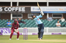Amy Jones drives down the ground, England v West Indies, 1st women's ODI, Leicester, June 6, 2019
