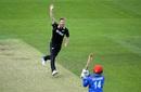 Jimmy Neesham celebrates after dismissing Gulbadin Naib, Afghanistan v New Zealand, World Cup 2019, Taunton, June 8, 2019