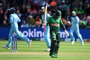 Mushfiqur Rahim reacts as he walks back to the pavilion after his dismissal, England v Bangladesh, World Cup 2019, Cardiff, June 8, 2019