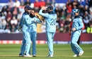 Adil Rashid celebrates with teammates after dismissing Mohammad Mithun, England v Bangladesh, World Cup 2019, Cardiff, June 8, 2019