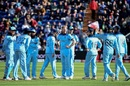 Ben Stokes celebrates with teammates after taking Mohammad Saifuddin's wicket, England v Bangladesh, World Cup 2019, Cardiff, June 8, 2019