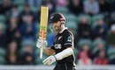 Kane Williamson celebrates his fifty, Afghanistan v New Zealand, World Cup 2019, Taunton, June 8, 2019