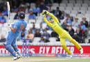 Rohit Sharma looks on as Alex Carey takes the catch to dismiss him, Australia v India, World Cup 2019, The Oval, June 9, 2019