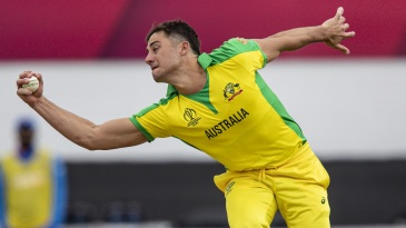 Pick that one out: Marcus Stoinis holds on to a return catch from MS Dhoni