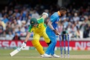 Aaron Finch is run out by Hardik Pandya off a Kedar Jadhav throw, Australia v India, World Cup 2019, The Oval, June 9, 2019