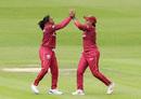 Afy Fletcher celebrates a breakthrough, England v West Indies, 2nd women's ODI, New Road, June 9, 2019