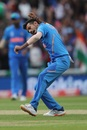 Yuzvendra Chahal celebrates dismissing Glenn Maxwell, Australia v India, World Cup 2019, The Oval, June 9, 2019