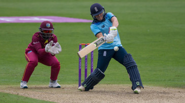 Anya Shrubsole plays into the on side