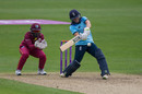 Anya Shrubsole plays into the on side, England v West Indies, 2nd women's ODI, New Road, June 9, 2019