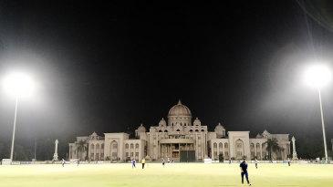 A match in the Gurukul Premier League in Ahmedabad